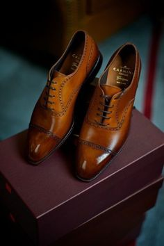 Brogues by Carmina Shoemaker Leather Men, Leather Shoes, Black Leather, Gentleman Shoes, Gentleman Style, Men S Shoes, Brown Mens Dress Shoes, Men's Dress Shoes, Footwear Shoes