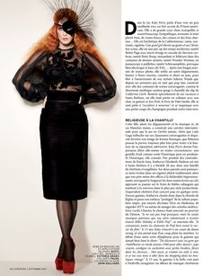 love the mane!    Katy Perry Gets Gothic for LOfficiel Paris September 2012 Cover Story