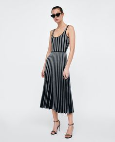 Image 1 of STRIPED STRAPPY DRESS from Zara