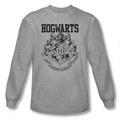 Hogwarts Crest Athletic Adult Heather  Long Sleeve T-Shirt - size M