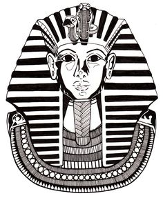 Pharaoh tattoo art egypt pharaoh graphic t shirt design for King tut mask template