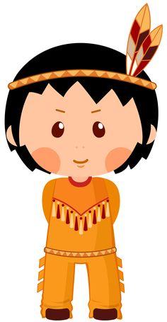 Native American Boy Clipar PNG Image