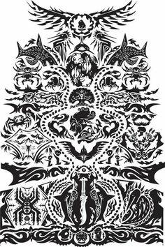 Rakyat Tatau from Far Cry 3 - Tattoo Pins Free Tattoo Designs, Tribal Tattoo Designs, Tribal Tattoos, Gamer Tattoos, Tattoos For Guys, Cool Tattoos, Tatoos, Tattoo Studio, Tatau Tattoo