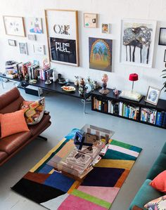 Melbourne living room of Simon Griffiths and Melissa Loughnan