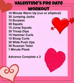 valentine's day workouts - Google Search