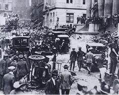 Wall Street Bombing, 1920 [[MORE]] The Wall Street bombing occurred at 12:01 pm on September 16, 1920, in the Financial District of Manhattan, New York City. The blast killed 30 people immediately, and another eight died later of wounds sustained in...