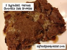 5 ingredient German Chocolate Brownies