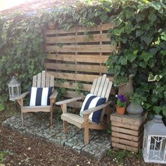 Backyard seating area...