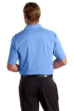 Nike Golf - Elite Series Dri-FIT Ottoman Bonded Polo Style 429439 Vibrant Blue Available from SweatshirtStation.com #menspolo #nikegolf #asi