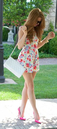 Jimmy Choos & Tennis Shoes White Floral Romper