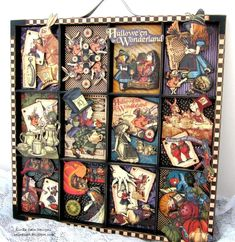 Not about the theme, but I have one of these shadow boxes and this is inspiration for how to 'treat' it.