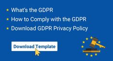 GDPR Privacy Policy - TermsFeed Gdpr Privacy, Privacy Policy, General Data Protection Regulation, Google S, Data Processing, Direct Marketing, Templates, Stencils, Vorlage
