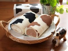 Génoise motif peau de vache. Gâteau roulé ou bûche. - Cow-pattern Roll Cake