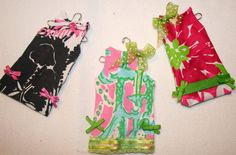 Shift Christmas Ornaments made with Lilly Pulitzer by shellylisser, $20.00