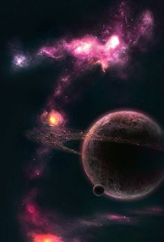 Outer Space Wallpaper, Planets Wallpaper, Galaxy Wallpaper, Dark Paintings, Space Artwork, My Fantasy World, Space Backgrounds, Universe Art, Space And Astronomy