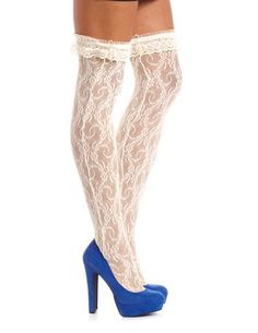 Lace Thigh High Tight: Charlotte Russe - $7.50