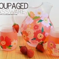 Easy Fall Decor – Decoupage on Glass – Pitchers and GlassesTutorial