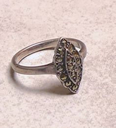 Vintage Classic Marquisite Ring by JessaBellas on Etsy
