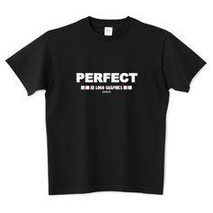 パーフェクトTシャツ白文字(ロゴTシャツ) | デザインTシャツ通販 T-SHIRTS TRINITY(Tシャツトリニティ)