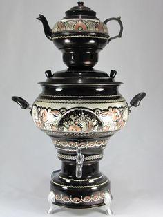 Brew your tea using the traditional Turkish Samovar.