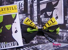 Playbill Broadway Theatre Love Hair bows or Play bill Bow ties unique handmade fun quirky fabric bow on Etsy, $6.75