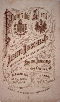 cartão Albert Henschel - Portal Brasiliana Fotográfica