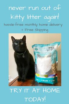 Keep your precious kitty safe and happy with this health monitoring litter! Each bag of Pretty Litter is infused with powerful odor reducers that lasts a month! Never stress over the health of your cat, the smelly litter box, or going to the store again because Pretty LItter is shipped free to your door each month!