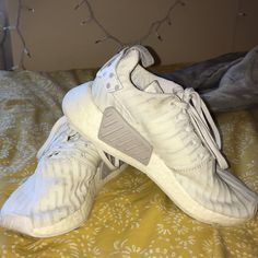 a61423841 nmd r2 w olive white paint blue color hair studio 2016 Adidas yeezy Pirate  Black ...