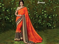 Buy this Exclusive Orange Georgette Saree with Satin Silk Peach Color Blouse along with Jacquard Patta, Satin Silk Printed Lace Border online from Laxmipati.com in USA, UK, Canada,India. Shop Now! 100% genuine products guaranteed. Limited Stock! . #Catalogue #SURMAI Price - Rs. 1462.00  #Bridal #ReadyToWear #Wedding #Apparel #Art #Autumn #Black #Border #CasualSarees #Clothing #Colours #Couture #Designer #Designersarees #dress #dubaifashion #ecom Laxmipati Sarees, Lehenga Saree, Georgette Sarees, Fancy Sarees, Party Wear Sarees, Saree Collection, Bridal Collection, Saree Shopping, Dubai Fashion
