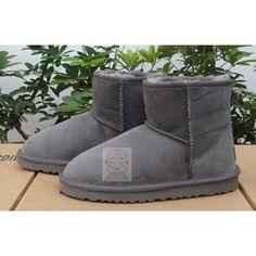 Women Gray Grey Sheepskin Fur Leather Warm Winter Dress Snow Boots SKU-11405462
