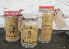 Primitive Jars Home Decor Vintage Style Labels by SweetLibertyBarn, $20.00