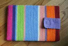 Crochet Laptop Case by Cara Matocha, via Flickr