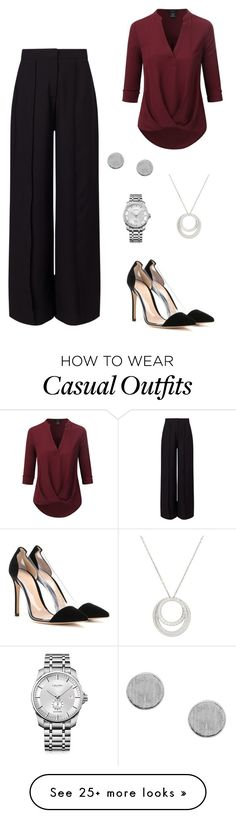 """Casual Dinner"" by laurenhansendenatly on Polyvore featuring Miss Selfridge, Doublju, Gianvito Rossi, Cartier and Calvin Klein"