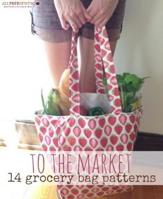 To the Market: 14 Grocery Bag Pattern Ideas | Going green has never looked so good!