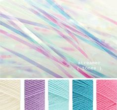Cream. Wisteria, Sherbet, Turquoise, Fondant  Stylecraft special dk colours