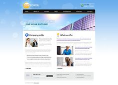 Sun Power Website Templates by Di