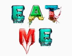 This mouth watering project is called 'Eat Me, The Candy Alphabet' and is by conceptual photographer and multimedia artist Massimo Gammacurta Food Typography, Typography Served, Typography Letters, Typography Design, Hand Lettering, Inspiration Typographie, Typography Inspiration, Design Inspiration, Creative Review