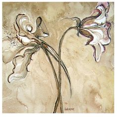 35 in. x 35 in. Flower Talks Canvas Art
