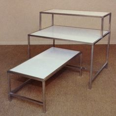 Display Tables – White Laminate Top for $125 to $206 | Melvin Roos