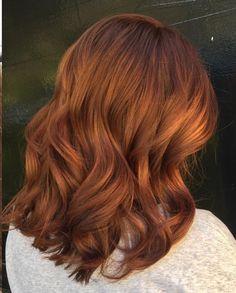 Red mid-length hair