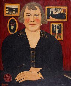 Portrait of Mme. Bombois, The Artist's Wife (Camille Bombois)
