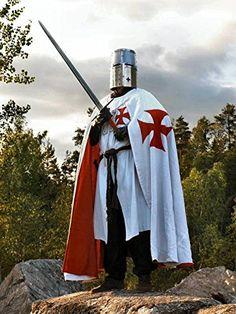 """""""Templar Knight On Duty"""" Medieval World, Medieval Knight, Medieval Armor, Knights Templar Costume, Knights Hospitaller, Knight Tattoo, Crusader Knight, Military Orders, Armadura Medieval"""
