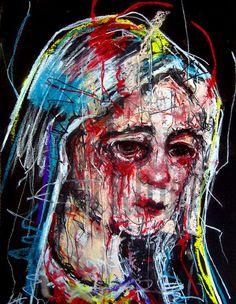 "surreal virgin mary | Items similar to Print 8x10"" - Virgin Mary - Dark Art Abstract Nun ..."