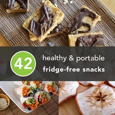 Look for a healthy snack or two to keep you going during your workday? @Greatist suggests these 42 delicious and portable snacks! (No refrigerator required!)