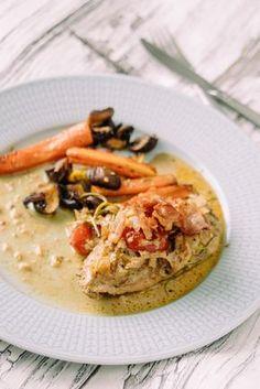 Alltså denna kycklingen smällte i munnen! Jag har lite olika varianter på den här på bloggen, ofta freebasar jag lite och det blir lite olika då, haha! Rosmarin, soltorkade tomater, parmaskinka – Kan det bli bättre? SLURP! Jag serverade grillade morötter, ciytron och champinjoner till. 5.0 from 1 reviews Mör kyckling i Italiensk Balsamicosås […]