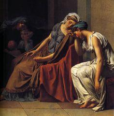 JACQUES LOUIS DAVID ( 1748 - 1825 ) - La Palette et le Rêve.....