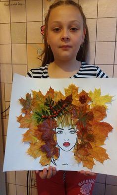 Jesen u mom kraju – Mamino vreme Autumn Crafts, Fall Crafts For Kids, Autumn Art, Nature Crafts, Art For Kids, Autumn Activities, Art Activities, Leaf Crafts, Pressed Flower Art