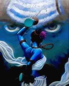 Lord Shiva as Nataraj in creative art painting Angry Lord Shiva, Lord Shiva Pics, Lord Shiva Hd Images, Lord Shiva Family, Rudra Shiva, Mahakal Shiva, Aghori Shiva, Lord Ganesha Paintings, Lord Shiva Painting