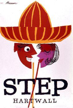 """Poster by Erik Bruun for Hartwall's """"Step Lemonade"""" Retro Advertising, Vintage Advertisements, Vintage Labels, Vintage Ads, Photography Illustration, Illustration Art, Vintage Travel Posters, Retro Posters, Commercial Art"""