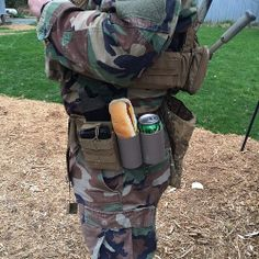 Figured out what these weird looking holsters are for: Snacks. Fat kid dreams. #airsoft #funny